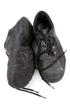 Salzränder an den Schuhe